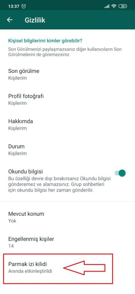 WhatsApp Parmak izi Kilidi 6